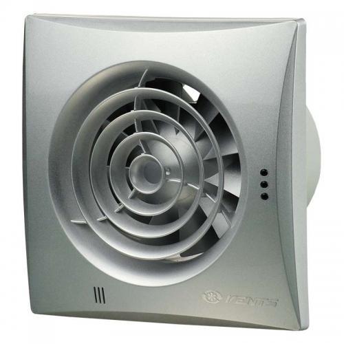 Вентилятор Вентс 100 Квайт алюминиевый матовый