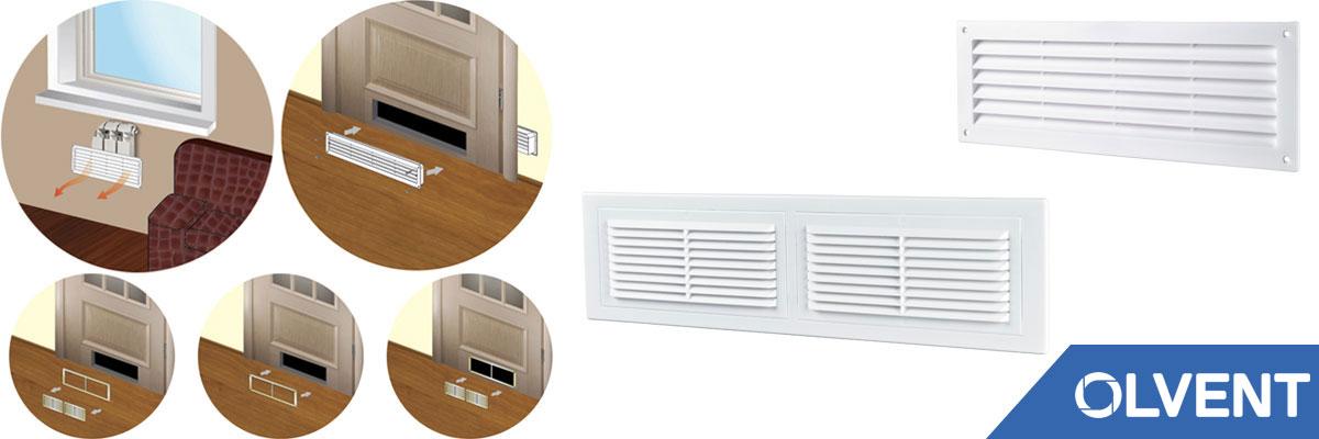 дверные вентиляционные решетки