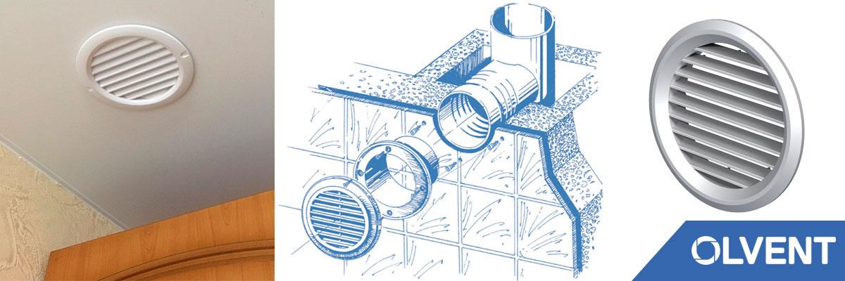 решетки круглые для вентиляции
