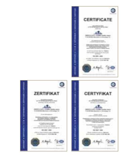 сертификаты iso awenta