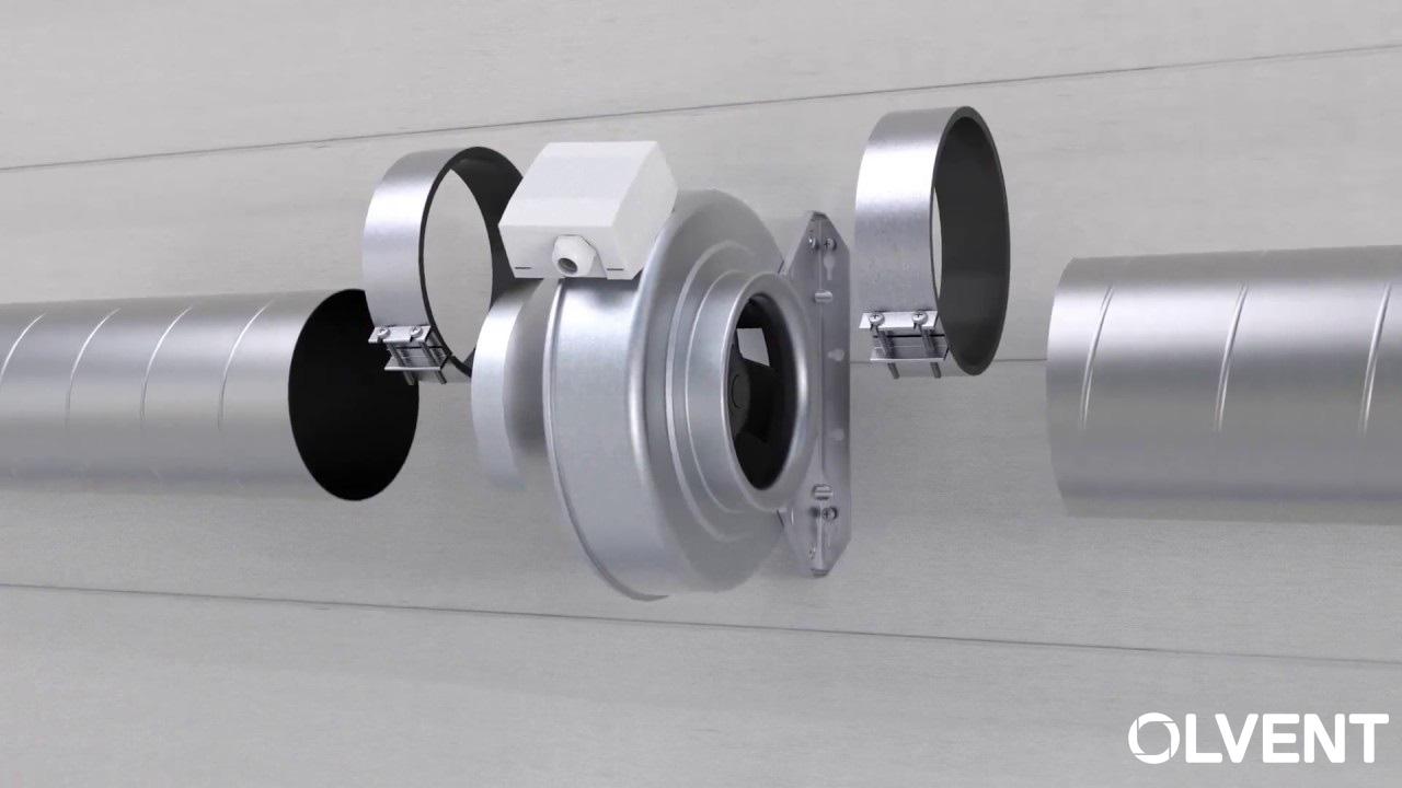 установка вентилятора в канал