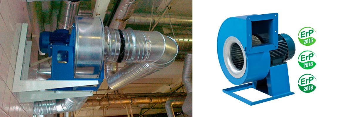 пример монтажа вентилятора улитка