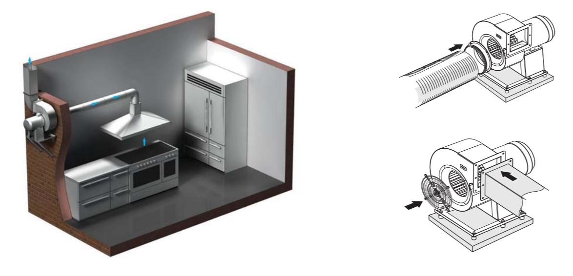 вентилятор улитка на кухне