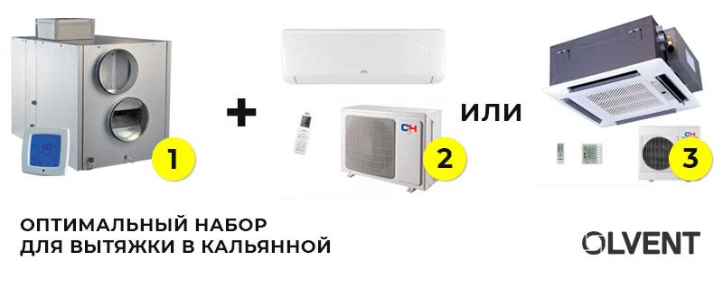 Оптимальное решение для вентиляции в кальянной